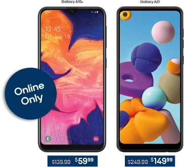 Online Only, LG Tribute Monarch for $49.99 and LG K51 for $99.99