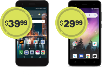 LG Tribute at $49.99 and Coolpad illumina at 39.99